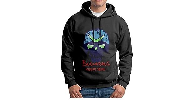KPaIil Suicidio Squad Boomerang Sudadera con Capucha para Hombre Negro Sudadera con Capucha: Amazon.es: Deportes y aire libre