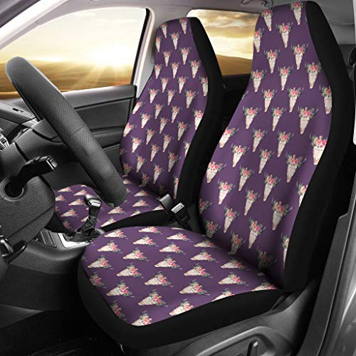 barn smile Cow Skull Pattern - 2 car Seat Covers Designed for sale  Delivered anywhere in Canada