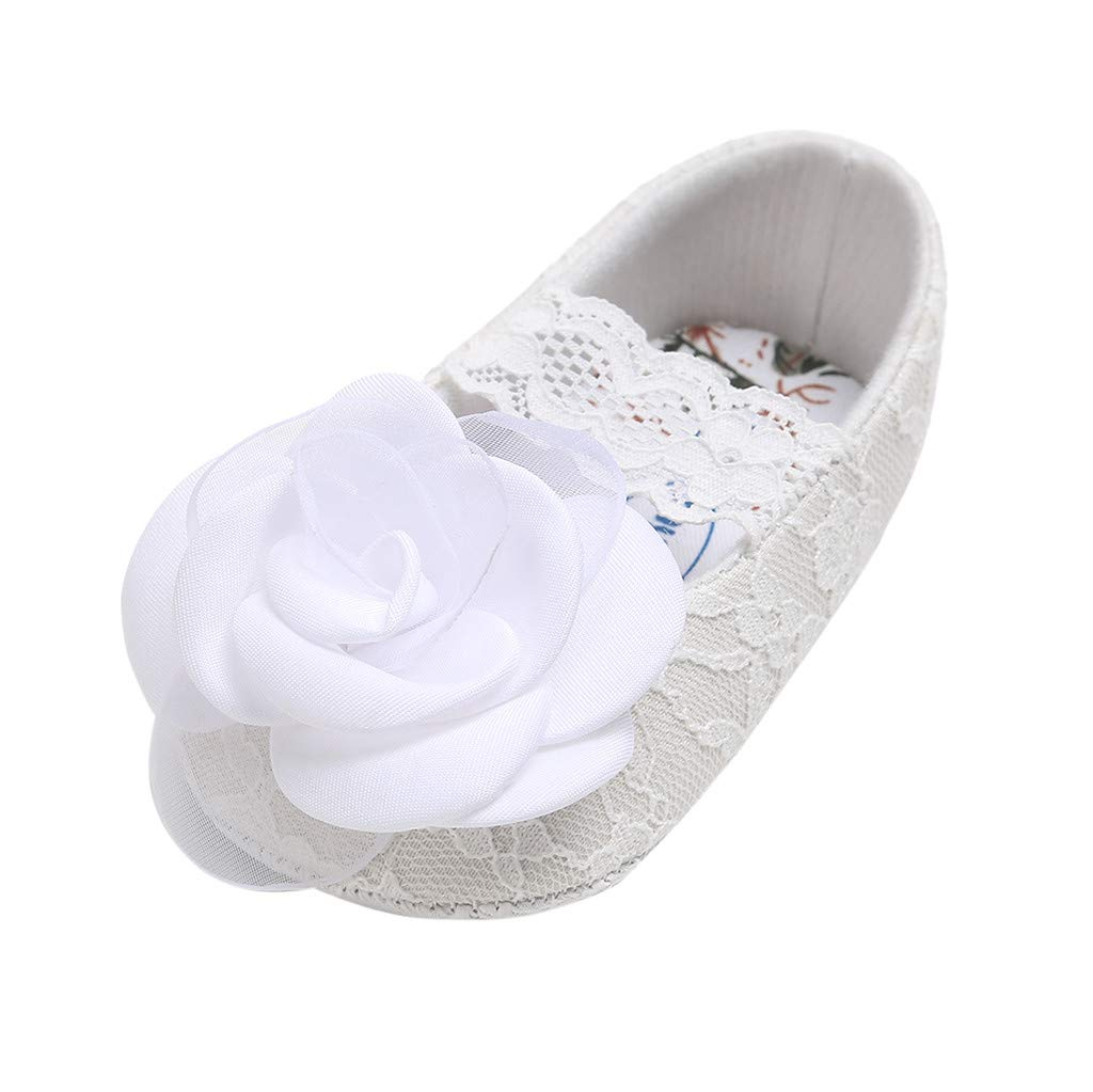 Voberry- Girls Shoes Rose Lace Cuty Pricess Fashion Toddler First Walkers Kid Shoes