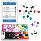 Swpeet 178 Pcs Molecular Model Kit for Inorganic & Organic Molecular Model Teacher and Student Kit - 69 Atoms & 30 Orbitals & 78 Links & 1 Short link remover tool - Science Toys