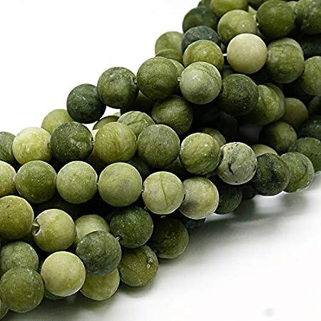 Piedras preciosas naturales de Taiwan, jade mate, redondas, 4 mm, 6 mm, 8 mm, 10 mm, color verde, set suelto, piedra, verde, 8mm, 15 Stück