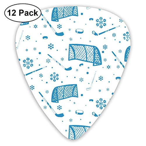 V5DGFJH.B Blue Ice Hockey Classic Guitar Pick Player's Pack for Electric Guitar,Acoustic Guitar,Mandolin,Guitar Bass]()