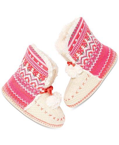 Jenni Slippers Size Pink Knit 9 Lg Bootie 10 Fairisle Women's PrF4UcqPA