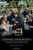 Learning from Words 9780199219162