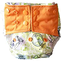 Superbottoms Cloth Diapers Plus Reusable All in One Diaper with 2 Organic Cotton Soakers and Dry Feel - Love Earth