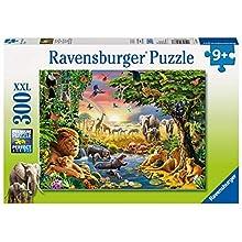 Ravensburger- Evening at The Waterhole Puzzle 300 Piezas, Multicolor (1)