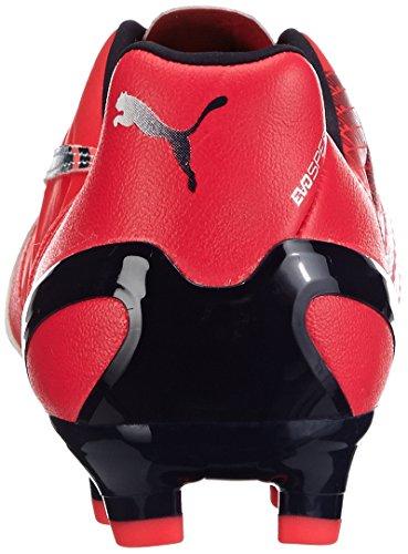 Puma - Zapatillas de fútbol, unisex rojo - Rot (bright plasma-white-peacoat 03)