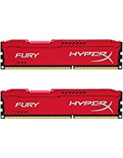 Kingston HyperX FURY 8GB Kit (2x4GB) 1600MHz DDR3 CL10 DIMM - Red (HX316C10FRK2/8)