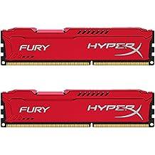 Kingston HyperX FURY 8GB Kit (2x4GB) 1600MHz DDR3 CL10 DIMM - Red (HX316C10FRK2/8)