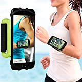 VUP Cell Phone Holder Wristband for iPhone X 7 8 6 6S Plus, Galaxy S8/S9 S7 180° Rotatable Universal for 4.0''-5.8'' Mobile Phone Running Armband (Green)