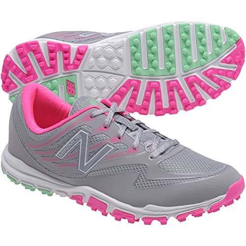 New Balance Women's nbgw1006 Golf Shoe, Grey/Pink, 7 B US by New Balance