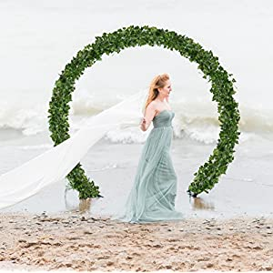 DearHouse Artificial Ivy Vine and Eucalyptus Garland Faux Eucalyptus Leaves Vines 2