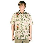Khaki Bird of Paradise Hawaiiabera Shirt