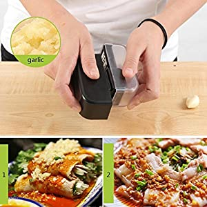 Garlic Cutter - Multi-function Mini Kitchen Tool for Ginger Garlic Cutter Spice Grinder Grater