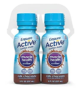 Ensure Active Muscle Health Shake, Milk Chocolate, 8-Ounce, (Pack of 16) (Packaging May Vary)