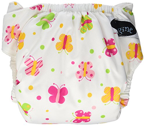 Imagine Baby Products Stay Dry All-in-One Hook and Loop Diaper, Flutter