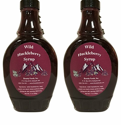 Montana Bounty Huckleberry Syrup Breakfast - Essentials 2 11 oz - Wild Grown & Hand Picked Fruit - Gluten-Free Non-GMO for Toppings - Fillings - Dessert - Craft Bread (HS 2P) -