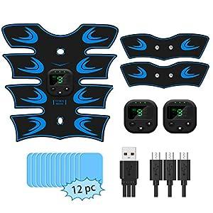 sumgott Electrostimulateur Musculaire,Ceinture Abdominale Electrostimulation EMS Stimulateur avec 6 Modes 10 Niveaux…