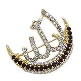 Islam Muslim Allah Scarf Hijab crystal Pin brooch