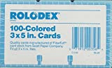 Rolodex 3x5 Replacement Cards. BLUE. 100-pack. Authentic Rolodex-made cards. Fits all 3''x5'' files.