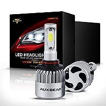 Auxbeam F-S2 Series 9005 Headlight Conversion Kits with 2 Pcs of Headlight Bulbs 72W 8000LM Bridgelux COB Chips Fog Light