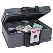 First Alert 2011FA 0.17-Cubic Feet Fire Chest Gray