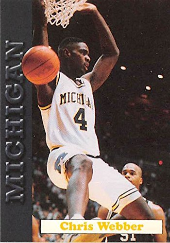 Chris Webber basketball card (Michigan Wolverines Fab Five NCAA Final Four) 1992 MWFF #8 -