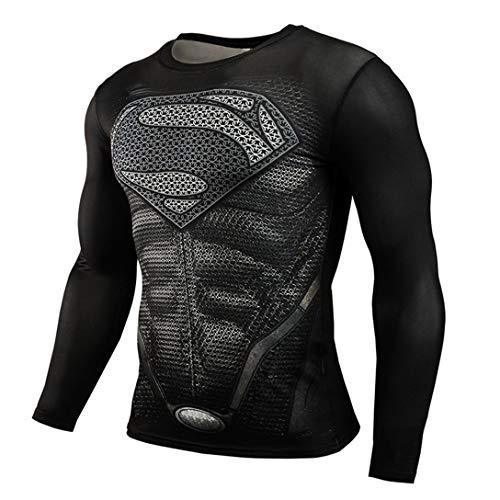HIMIC E77C Hot Movie Super Hero Quick-Drying ElasticT-Shirt Costume (Large,Super 2)]()