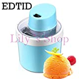 EDTID MINI DIY electric automatic soft ice cream machine household cool Fruit icecream maker household Frozen Dessert Maker 0.8L