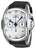 Invicta Men's 'Lupah' Automatic Stainless Steel and Leather Casual Watch, Color:Black (Model: 24034)