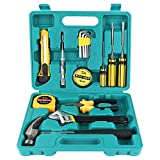 Tools & Hardware : Homeowner Tool Set,WYCTIN 16 Pieces Durable Household Small Hand Tool Kit with Plastic Tool box Storage Case for DIY, Interior Decorating, Household Chores, Car Repair