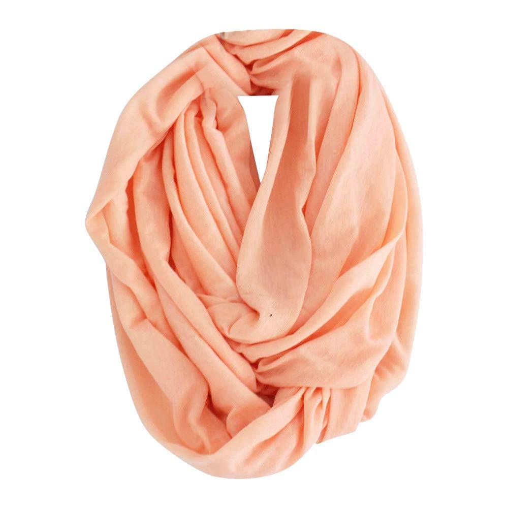 Jonecal Clearance Ephow Plaid Blanket Scarf Winter Tartan Wrap Shawl Candy Scarf (Orange)