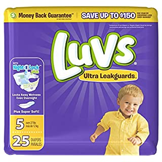 Luvs Ultra Leakguards, Stage 5 Disposable Diaper, 25 Ct