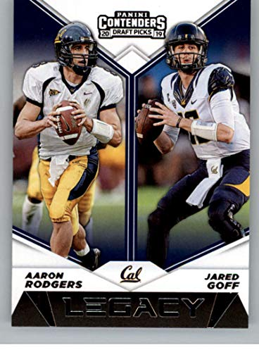 2019 Panini Contenders Draft Tickets Legacy Football #7 Aaron Rodgers/Jared Goff Cal Golden -