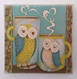 Owl Theme Handmade Wood Wall Art Birthday Housewarming Gift Idea Home Kitchen Decoration