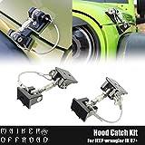 jeep wrangler hood lock - MAIKER Jeep Unlimited JK Hood Latch Locking Hood Catch Kit for JK Wrangler 2007-2017, 1 Pair