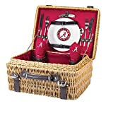NCAA Alabama Crimson Tide Champion Picnic Basket with Deluxe Service for Two, Red,