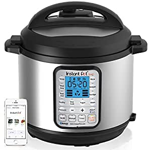 Instant Pot Smart Bluetooth 6 Qt 7-in-1 Multi-Use Programmable Pressure Cooker, Slow Cooker, Rice Cooker, Yogurt Maker, Sauté, Steamer, and Warmer