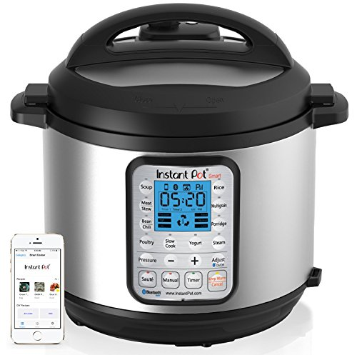 Instant Pot Smart Bluetooth 6 Qt 7-in-1 Multi-Use Programmable Pressure Cooker, Slow Cooker, Rice Cooker, Yogurt Maker, Sauté, Steamer, and Warmer (Product Discontinued)