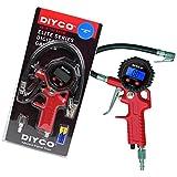 DIYCO Elite Series - Digital Tire Inflator with Pressure Gauge - Lock-on Air Chuck