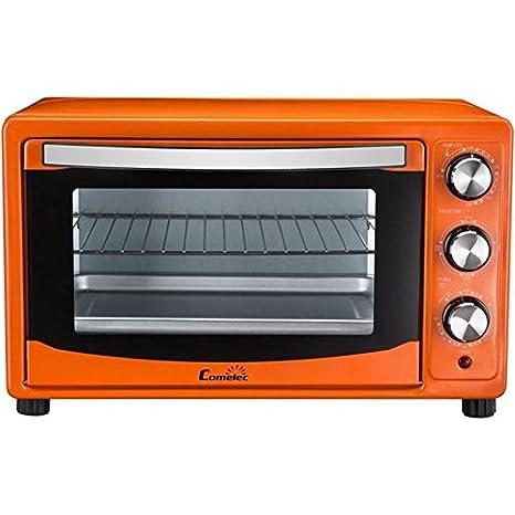 Horno eléctrico de sobremesa 28L naranja HO2806 COMELEC: Amazon.es ...