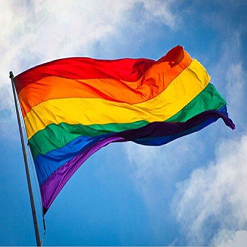 de 90 x 150 cm Banderas y carteles con los colores del arco/íris de Everpert apoyo a la comunidad LGBT