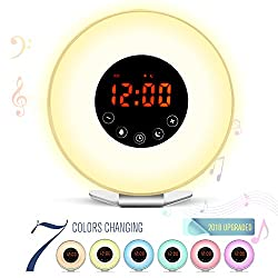 Wake Up Light Alarm Clock (Yellow)