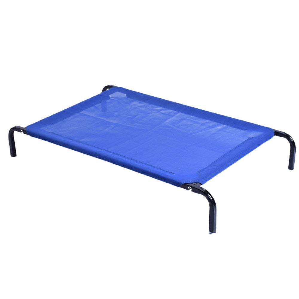 bluee 1147615cm bluee 1147615cm Dog beds Medium Size Large Dog Dog Bed Summer Washable Pet Bed Teddy golden Retriever Pet Nest Camp Bed,bluee-114  76  15cm