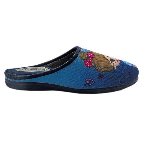 222SHOP Secretaria Azul, Zapatillas de Andar por casa para Mujer: Amazon.es: Zapatos y complementos