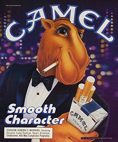 Smooth character. Joe Camel in tuxedo for Camel Cigarettes ad 1990 L (Cigarettes Memorabilia Camel)