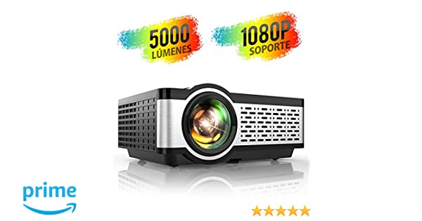 Proyector, TOPTRO Mini Proyector Portátil de Cine en Casa 5000 ...