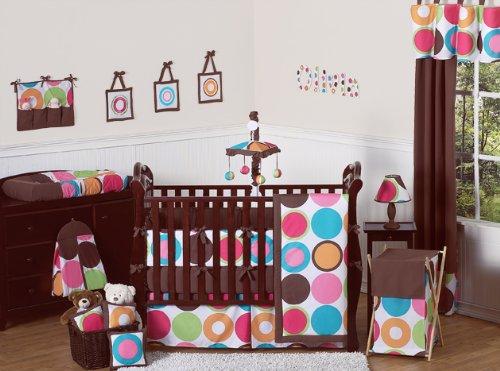 Modern Deco Dot Childrens Kids Clothes Laundry Hamper by Sweet Jojo Designs