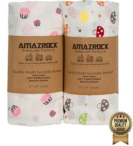 Amazrock Baby Muslin Swaddle Blanket product image