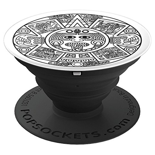 Graphic Aztec Sun God Calendar - PopSockets Grip and Stand for Phones and Tablets